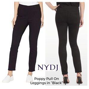 NYDJ Petite Poppy Pull On Leggings Black 10P